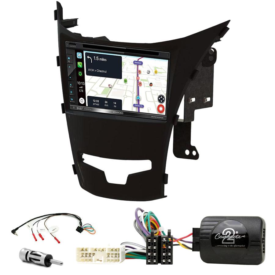 Kit d\'intégration Ssangyong Korando de 2014 à 2019 + Autoradio tactile Navigation GPS
