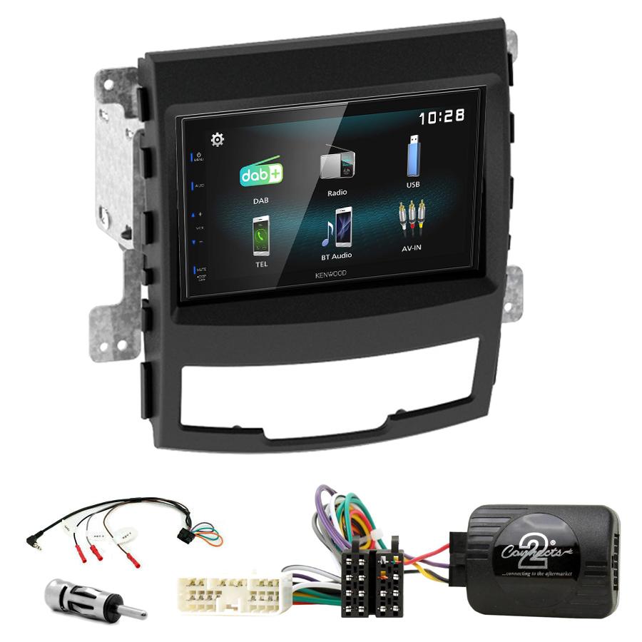 Kit d\'intégration Ssangyong Korando de 2010 à 2014 + Autoradio multimédia à écran tactile