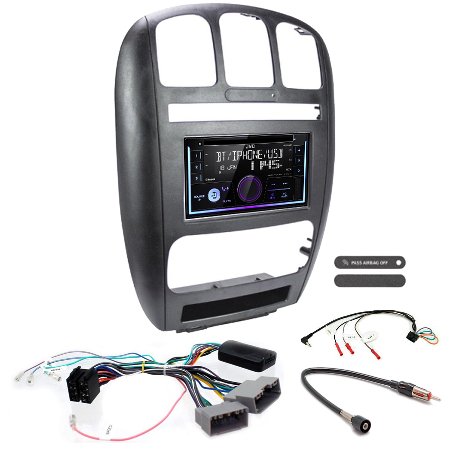 Kit d\'intégration Chrysler Voyager de 2001 à 2007 + Autoradio multimédia USB/Bluetooth