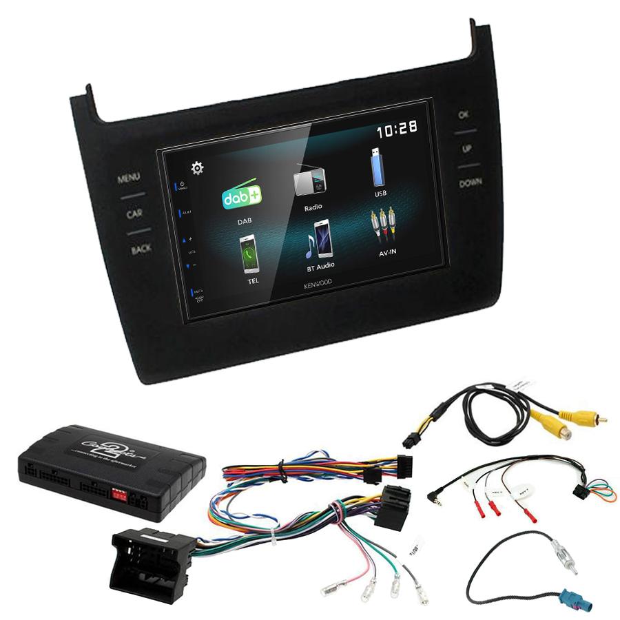 Kit d\'intégration Volkswagen Polo de 2014 à 2017 + Autoradio multimédia à écran tactile