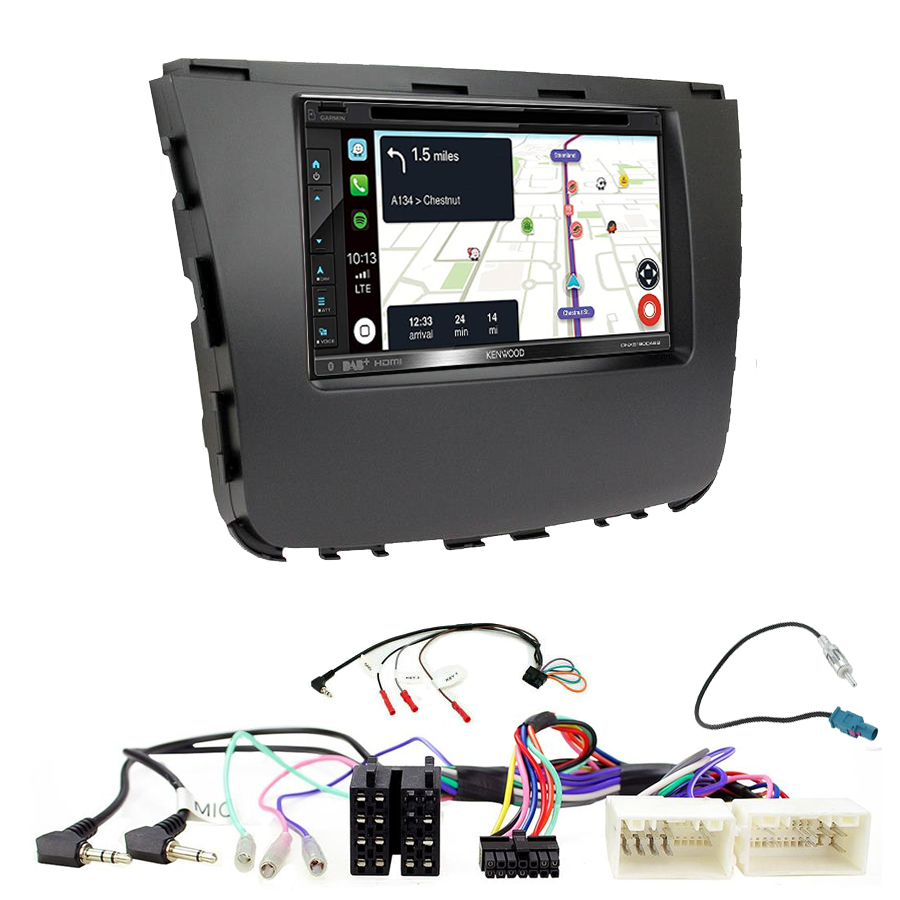 Kit d\'intégration Ssangyong Musso depuis 2018 + Autoradio tactile Navigation GPS