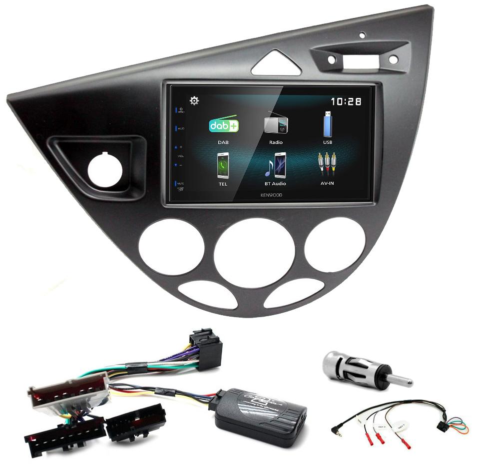 Kit d\'intégration Ford Focus de 1999 à 2004 + Autoradio multimédia à écran tactile