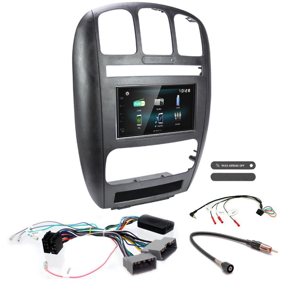 Kit d\'intégration Chrysler Voyager de 2001 à 2007 + Autoradio multimédia à écran tactile