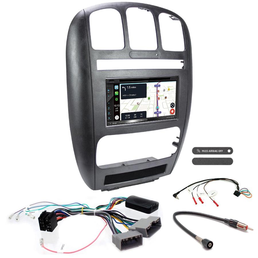 Kit d\'intégration Chrysler Voyager de 2001 à 2007 + Autoradio tactile Navigation GPS