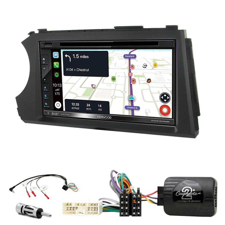 Kit d\'intégration Ssangyong Kyron et Actyon de 2006 à 2012 + Autoradio tactile Navigation GPS
