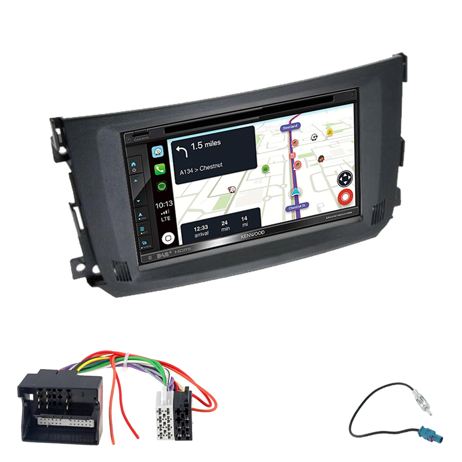 Kit d\'intégration Smart Fortwo de 2010 à 2015 + Autoradio tactile Navigation GPS