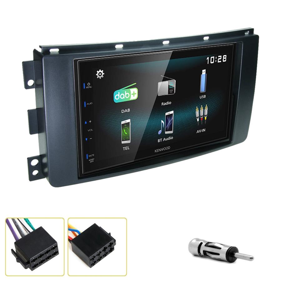 Kit d\'intégration Smart Fortwo de 2007 à 2010 + Autoradio multimédia à écran tactile