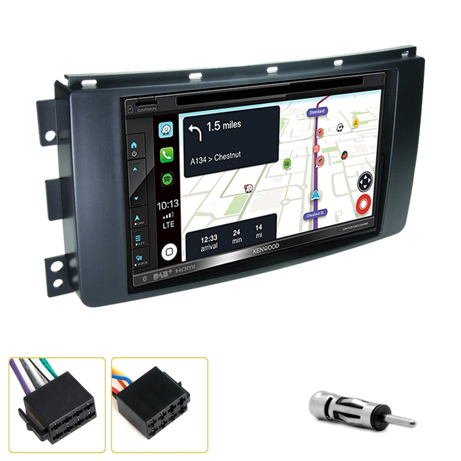 Kit d\'intégration Smart Fortwo de 2007 à 2010 + Autoradio tactile Navigation GPS