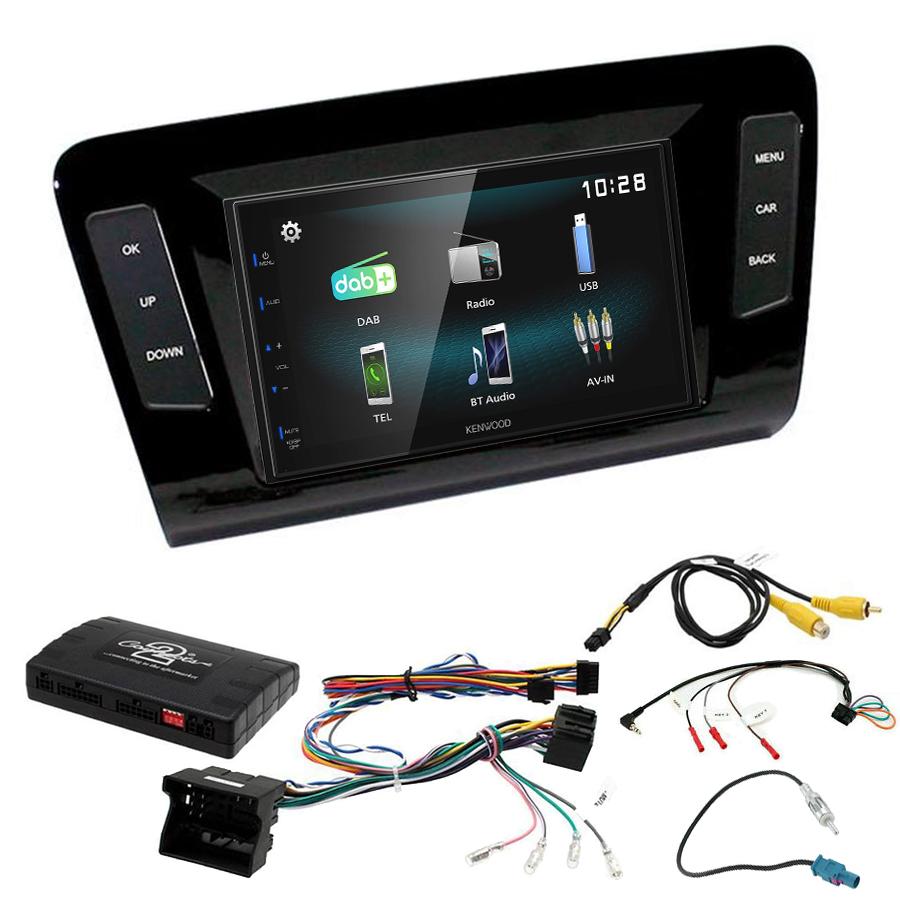 Kit d\'intégration Skoda Octavia de 2013 à 2020 + Autoradio multimédia à écran tactile