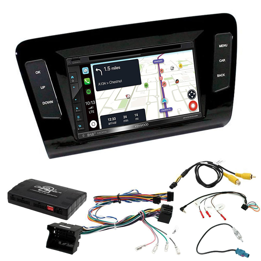 Kit d\'intégration Skoda Octavia de 2013 à 2020 + Autoradio tactile Navigation GPS