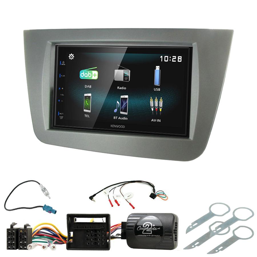 Kit d\'intégration Seat Leon de 09/2005 à 03/2009 + Autoradio multimédia à écran tactile