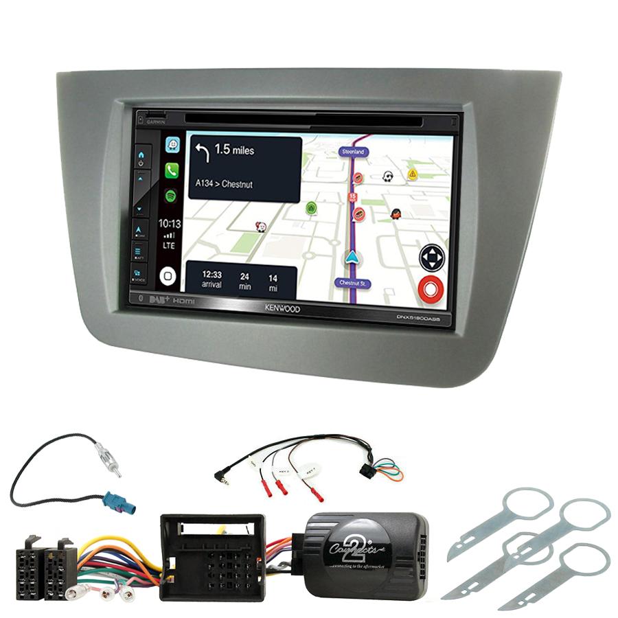 Kit d\'intégration Seat Leon de 09/2005 à 03/2009 + Autoradio tactile Navigation GPS