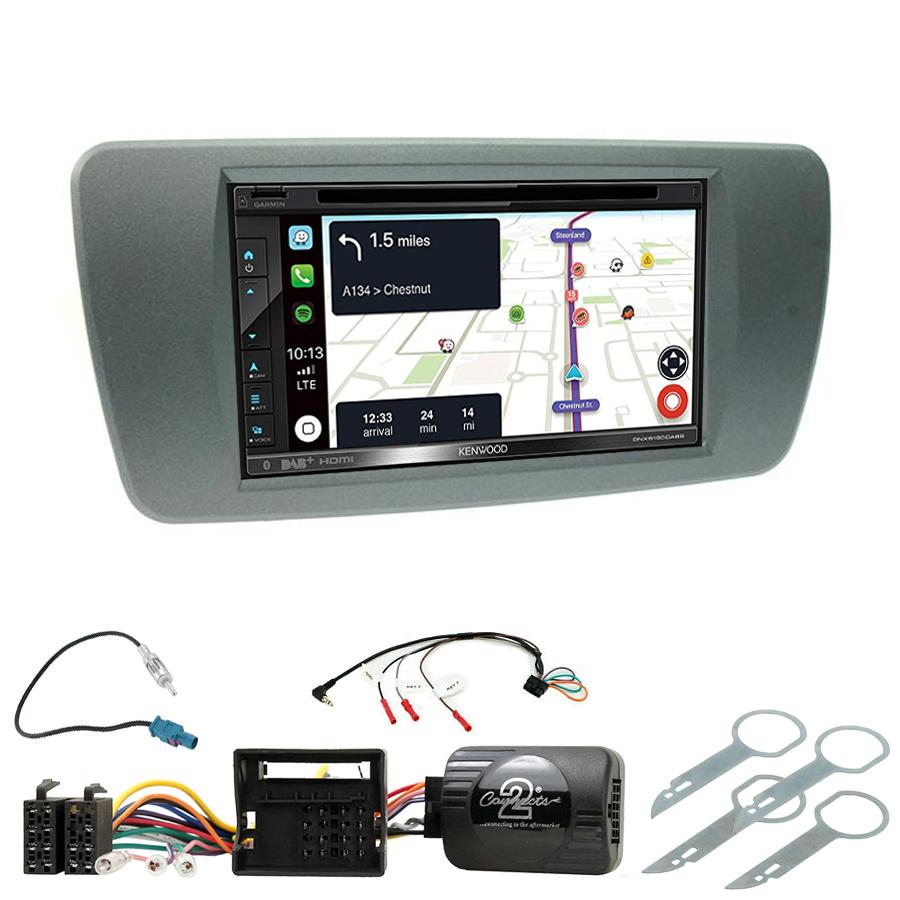 Kit d\'intégration Seat Ibiza de 06/2008 à 2014 + Autoradio tactile Navigation GPS