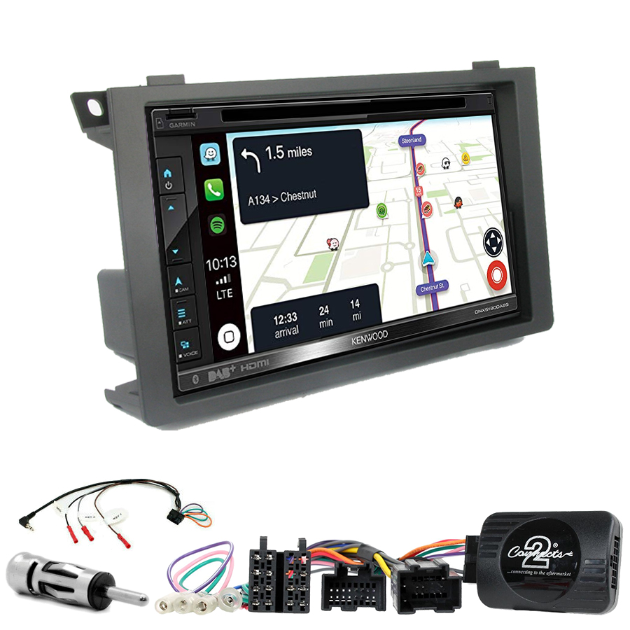 Kit d\'intégration Saab 9-3 de 2006 à 2011 + Autoradio tactile Navigation GPS