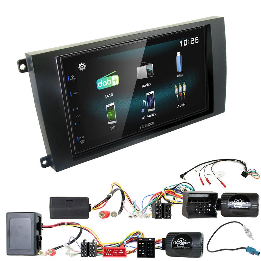 Kit d\'intégration Porsche Cayenne de 2002 à 2010 + Autoradio multimédia à écran tactile