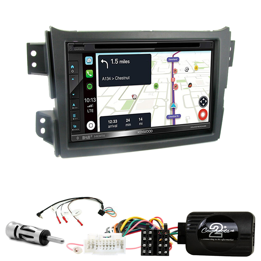 Kit d\'intégration Suzuki Splash de 2008 à 2015 + Autoradio tactile Navigation GPS