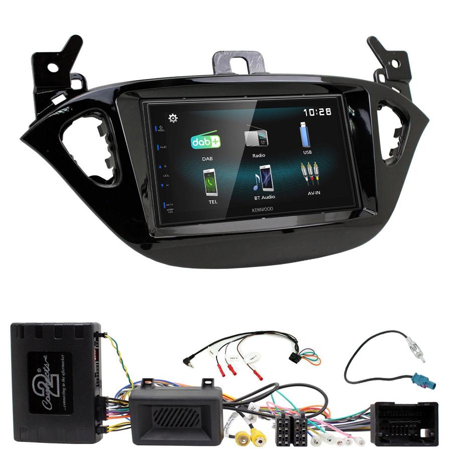 Kit d\'intégration Opel Adam et Corsa de 2013 à 2019 + Autoradio multimédia à écran tactile