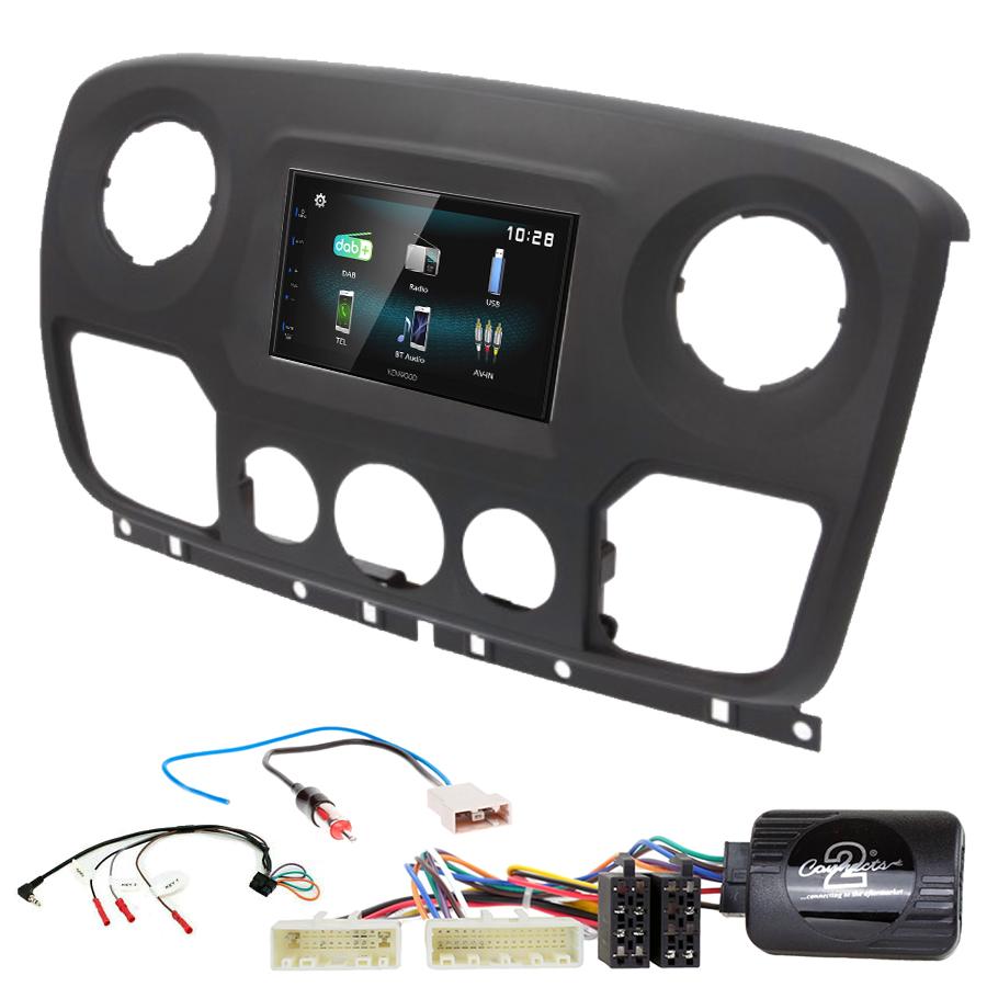Kit d\'intégration Nissan NV400 de 2010 à 2019 + Autoradio multimédia à écran tactile