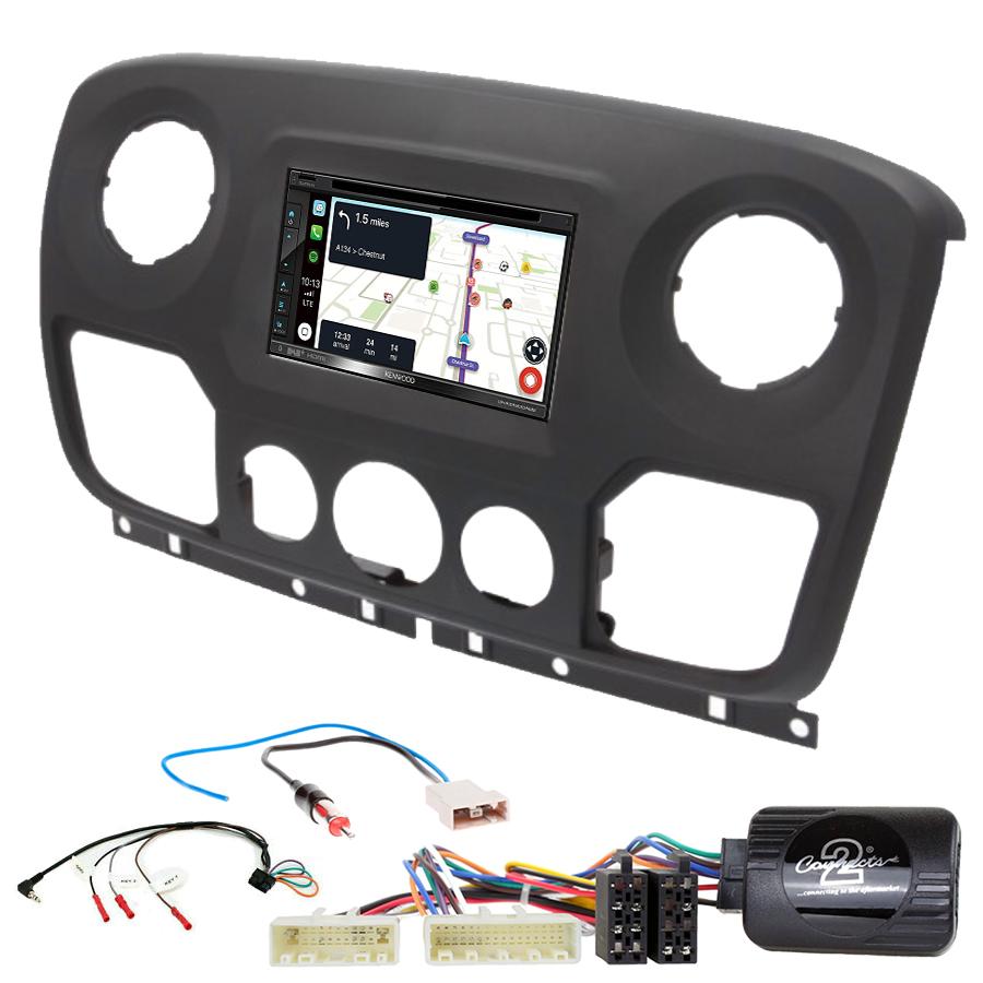 Kit d\'intégration Renault Master de 2010 à 2019 + Autoradio tactile Navigation GPS