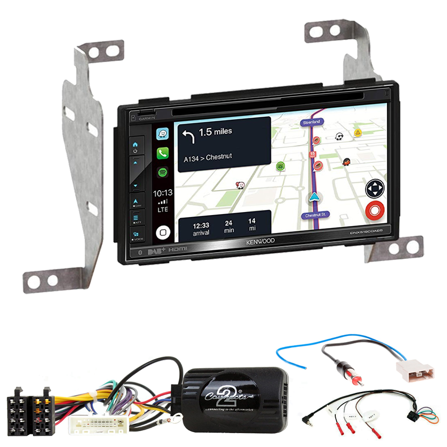 Kit d\'intégration Nissan Juke de 10/2010 à 05/2014 + Autoradio tactile Navigation GPS