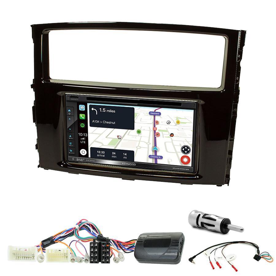 Kit d\'intégration Mitsubishi Pajero de 2006 à 2014 + Autoradio tactile Navigation GPS