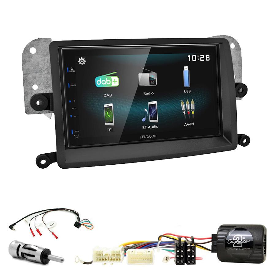 Kit d\'intégration Mitsubishi L200 de 03/2006 à 10/2015 + Autoradio multimédia à écran tactile