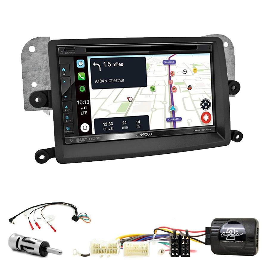 Kit d\'intégration Mitsubishi L200 de 03/2006 à 10/2015 + Autoradio tactile Navigation GPS