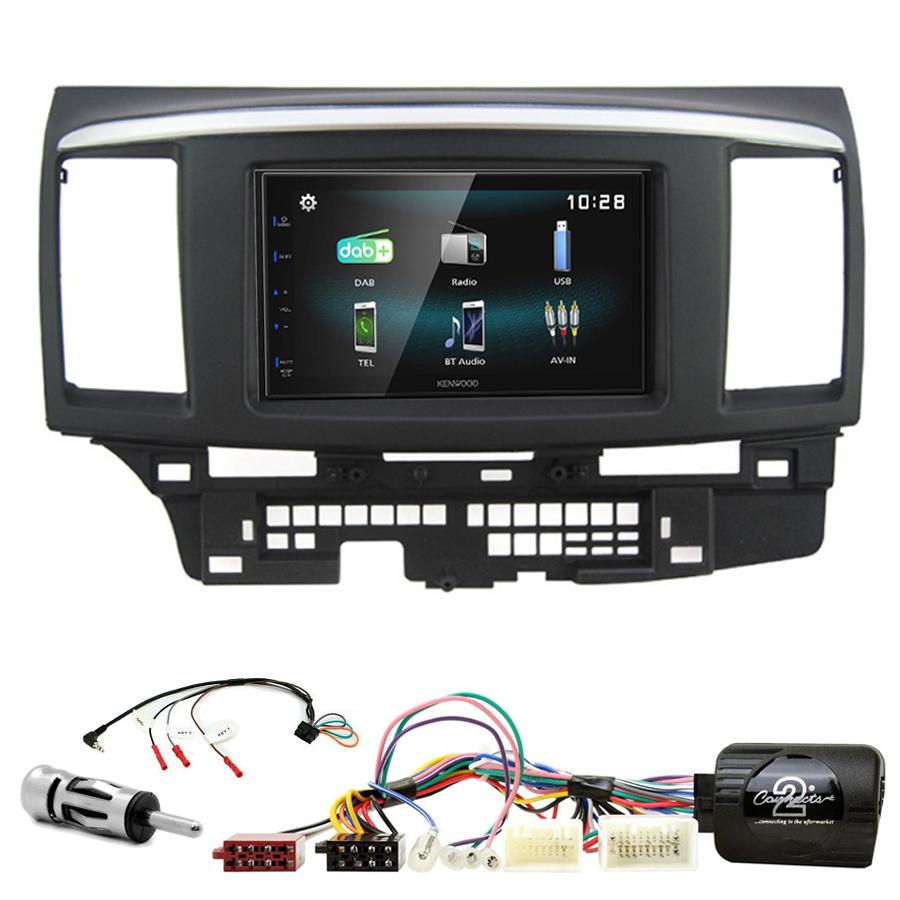 Kit d\'intégration Mitsubishi Lancer de 2008 à 2010 + Autoradio multimédia à écran tactile