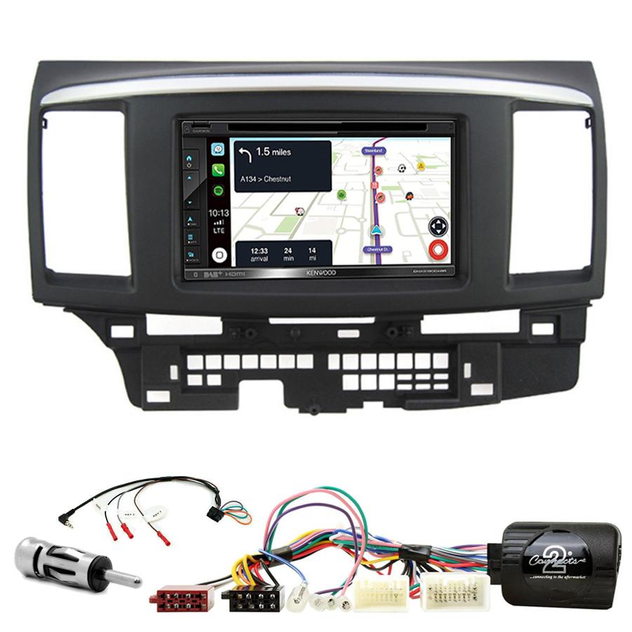 Kit d\'intégration Mitsubishi Lancer de 2008 à 2010 + Autoradio tactile Navigation GPS