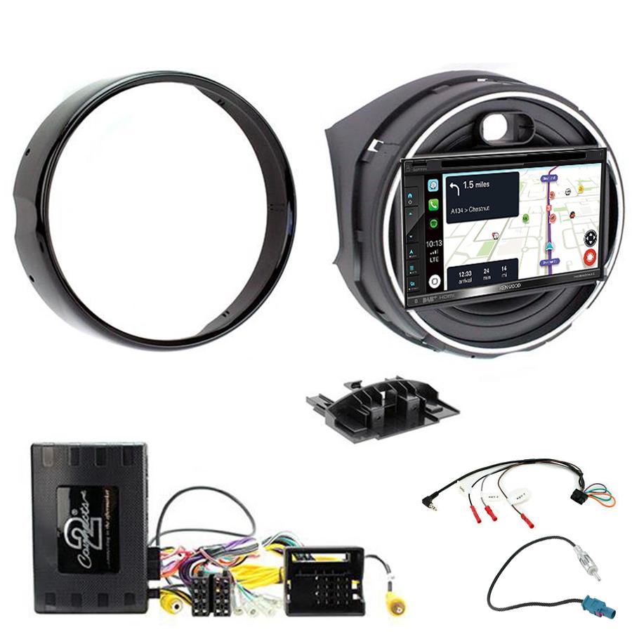Kit d\'intégration Mini Cooper F55/F56 de 2014 à 2018 + Autoradio tactile Navigation GPS