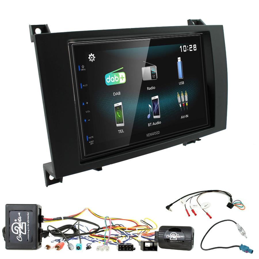 Kit d\'intégration Mercedes SLK de 03/2004 à 03/2011 + Autoradio multimédia à écran tactile