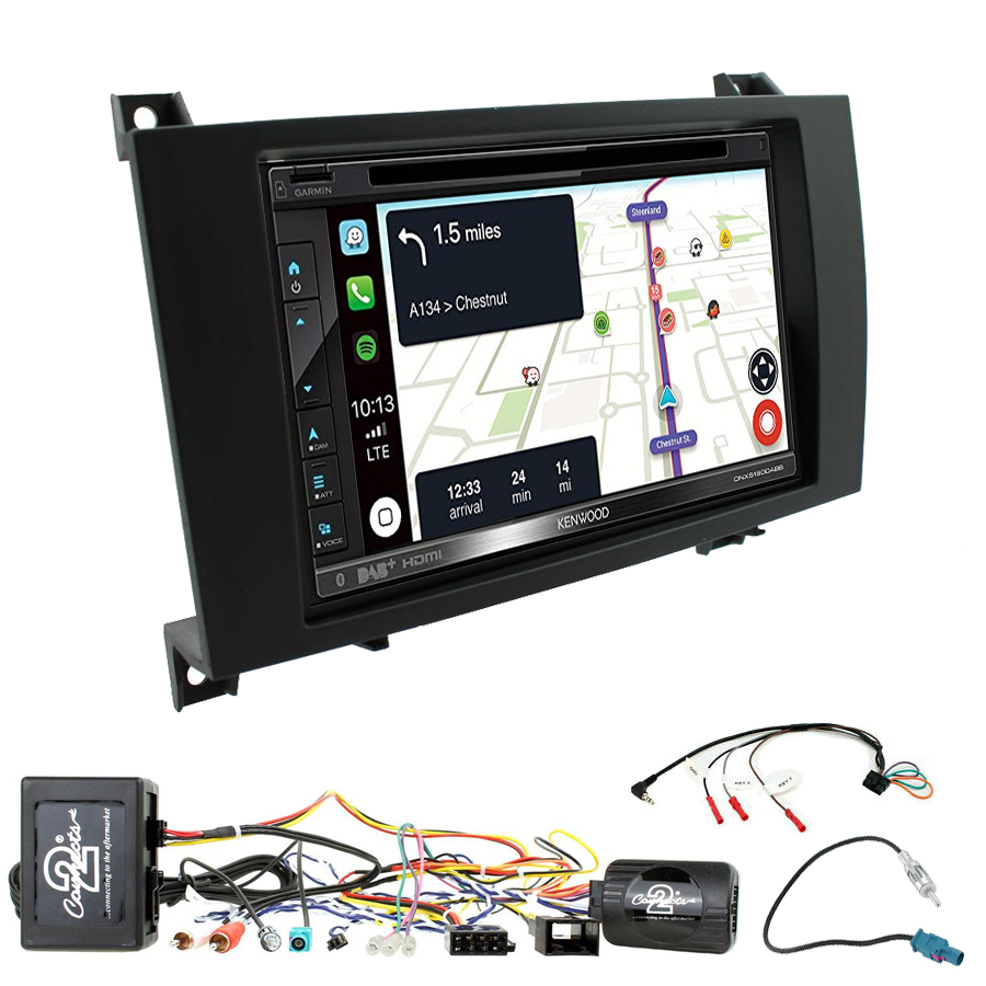 Kit d\'intégration Mercedes SLK de 03/2004 à 03/2011 + Autoradio tactile Navigation GPS