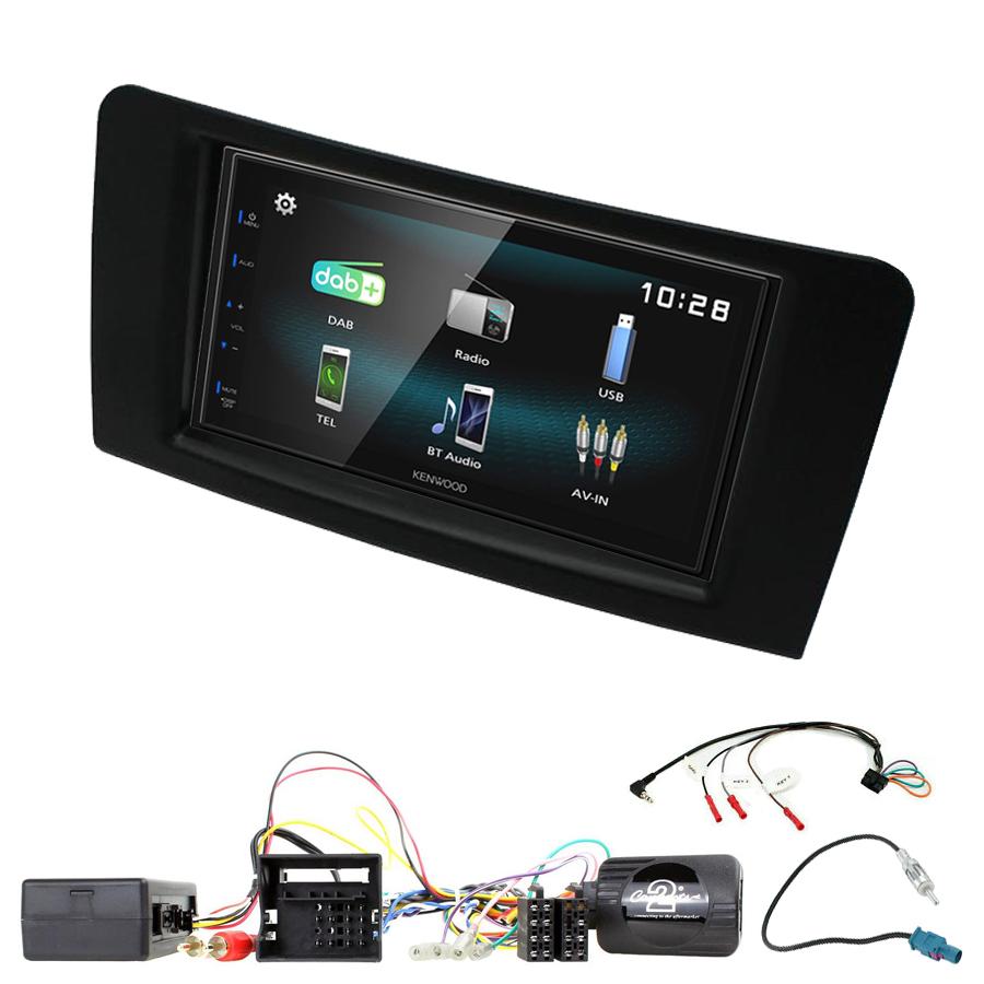 Kit d\'intégration Mercedes ML de 2005 à 2011 + Autoradio multimédia à écran tactile
