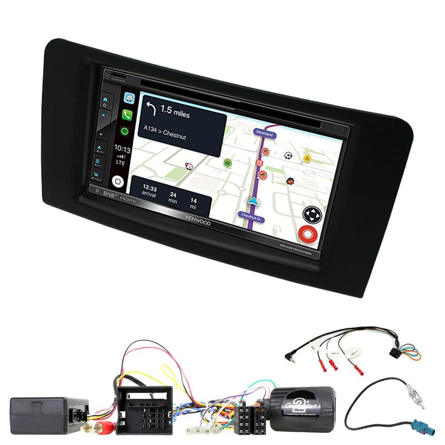Kit d\'intégration Mercedes ML de 2005 à 2011 + Autoradio tactile Navigation GPS