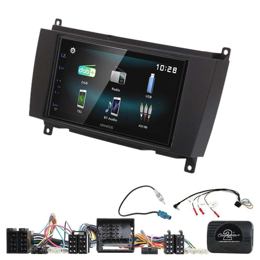 Kit d\'intégration Mercedes CLK de 2006 à 2010 + Autoradio multimédia à écran tactile
