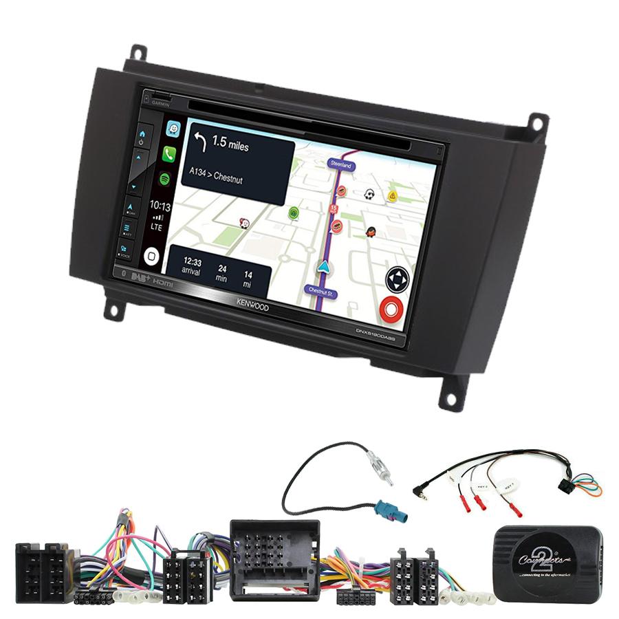 Kit d\'intégration Mercedes CLK de 2006 à 2010 + Autoradio tactile Navigation GPS