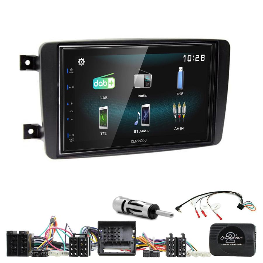 Kit d\'intégration Mercedes CLK, Classe C, Viano et Vito + Autoradio multimédia à écran tactile