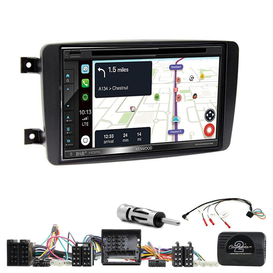 Kit d\'intégration Mercedes CLK, Classe C, Viano et Vito + Autoradio tactile Navigation GPS
