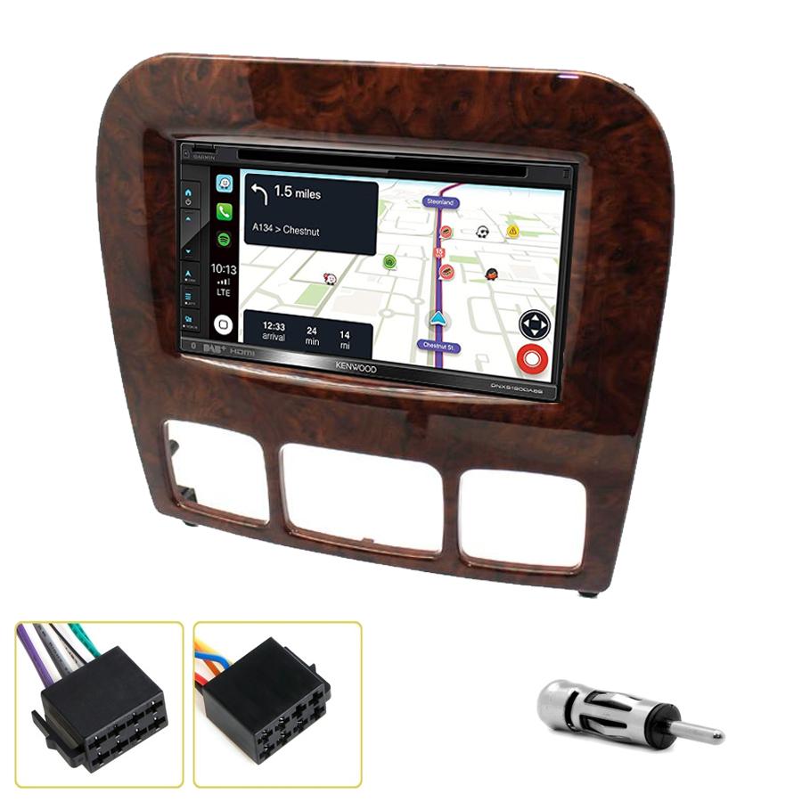 Kit d\'intégration Mercedes Classe S de 1999 à 2005 + Autoradio tactile Navigation GPS