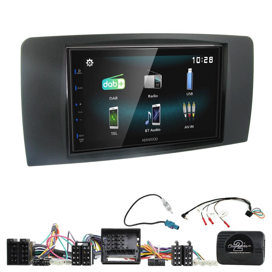 Kit d\'intégration Mercedes Classe R de 2006 à 2013 + Autoradio multimédia à écran tactile