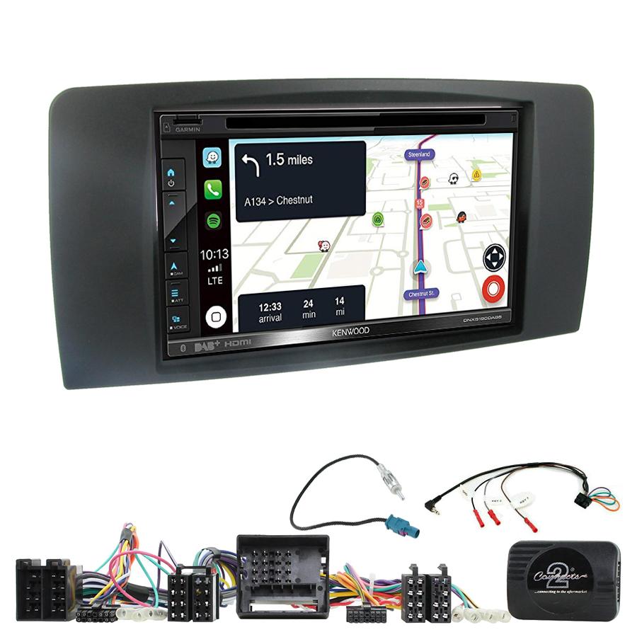 Kit d\'intégration Mercedes Classe R de 2006 à 2013 + Autoradio tactile Navigation GPS