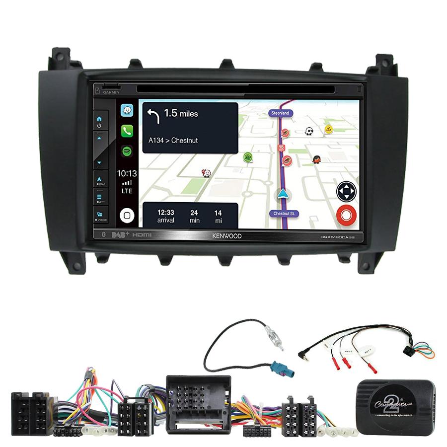 Kit d\'intégration Mercedes Classe C W203 et Mercedes CLC + Autoradio tactile Navigation GPS