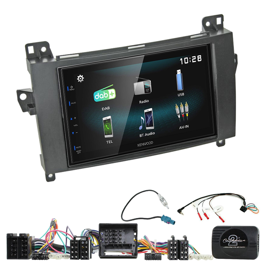 Kit d\'intégration Mercedes Classe A, Classe B, Viano et Vito + Autoradio multimédia à écran tactile