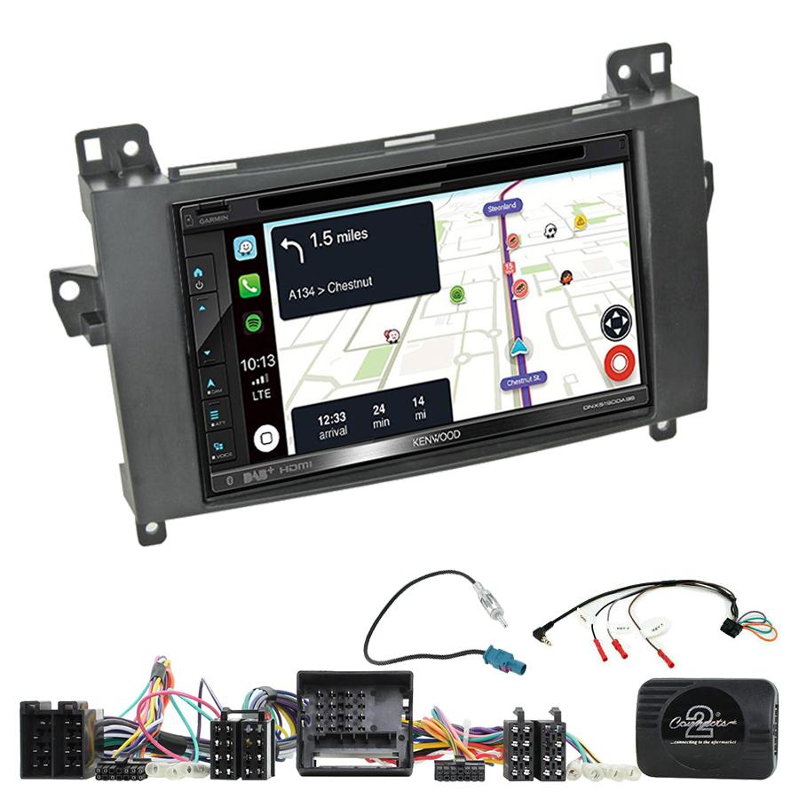 Kit d\'intégration Mercedes Classe A, Classe B, Viano et Vito + Autoradio tactile Navigation GPS