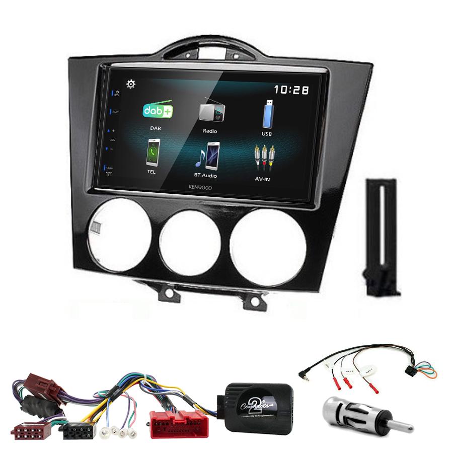 Kit d\'intégration Mazda RX-8 de 2004 à 2008 + Autoradio multimédia à écran tactile