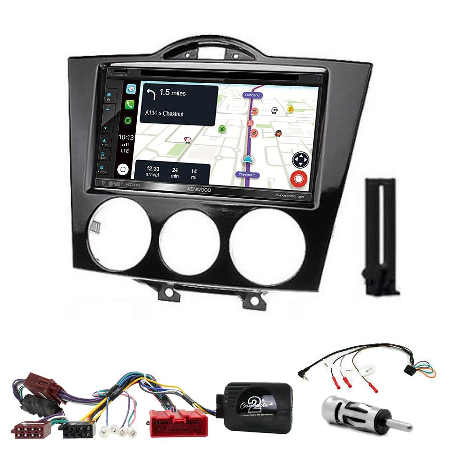 Kit d\'intégration Mazda RX-8 de 2004 à 2008 + Autoradio tactile Navigation GPS