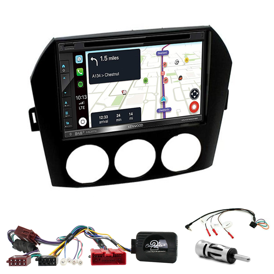 Kit d\'intégration Mazda MX-5 de 2005 à 2015 + Autoradio tactile Navigation GPS