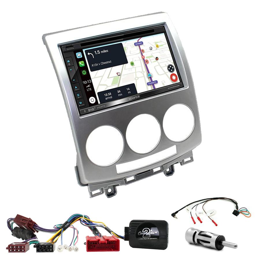 Kit d\'intégration Mazda 5 de 05/2005 à 03/2008 + Autoradio tactile Navigation GPS