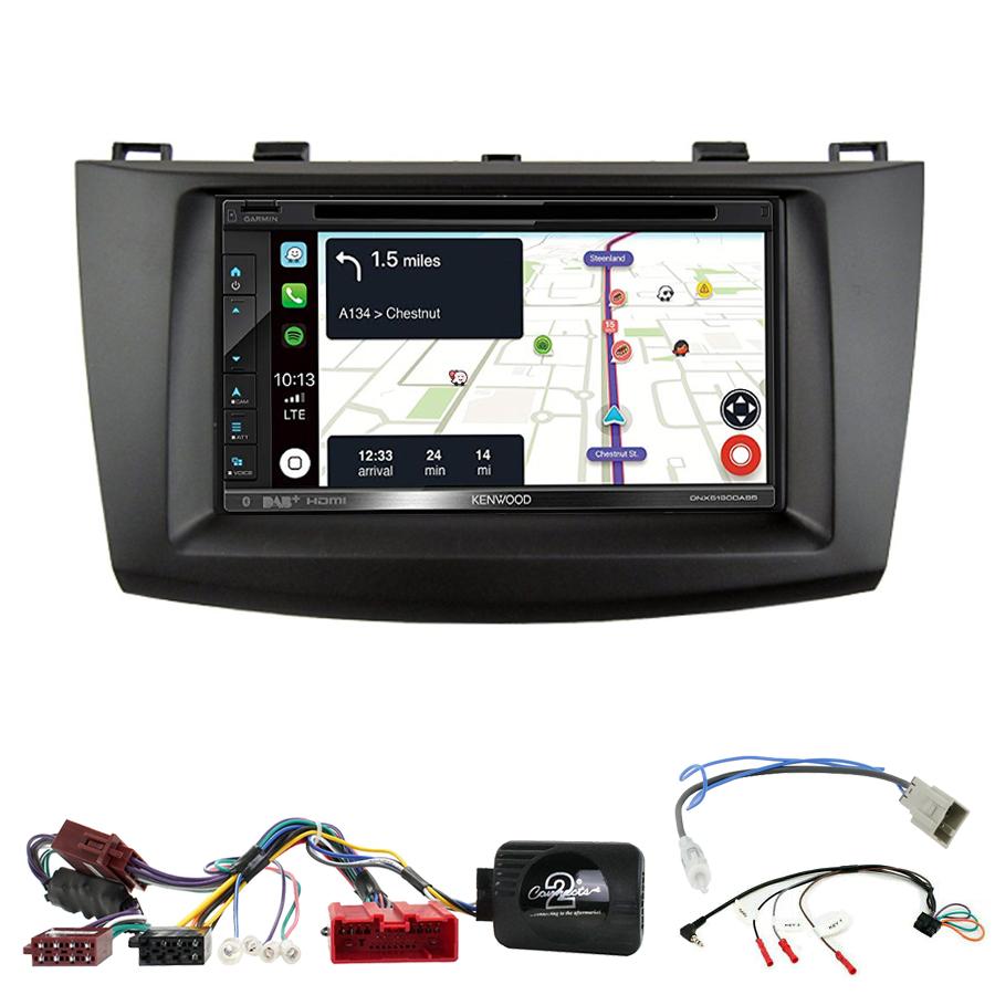 Kit d\'intégration Mazda 3 de 2009 à 10/2013 + Autoradio tactile Navigation GPS