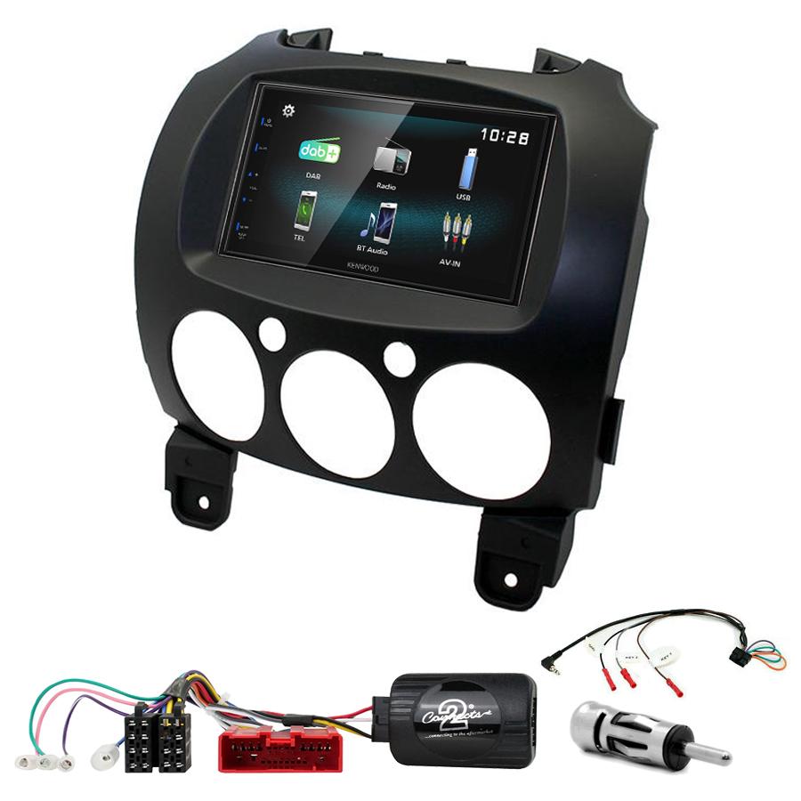 Kit d\'intégration Mazda 2 + Autoradio multimédia à écran tactile
